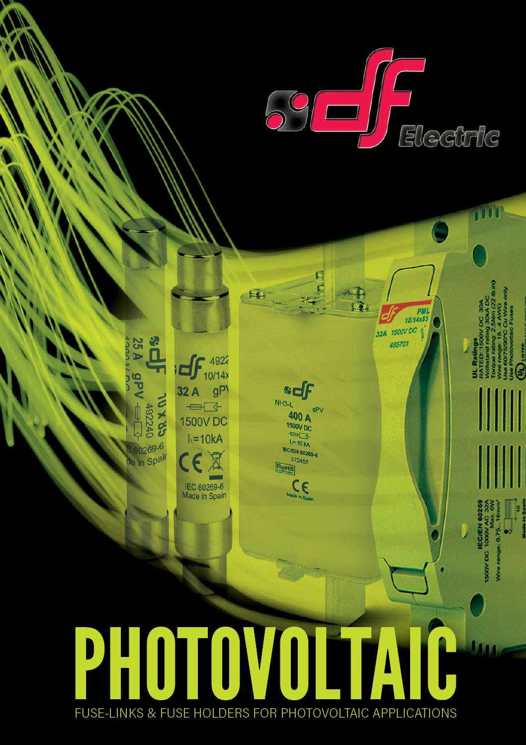 DF photovoltaic-fuses-and-bases supplied by ElectroMechanica