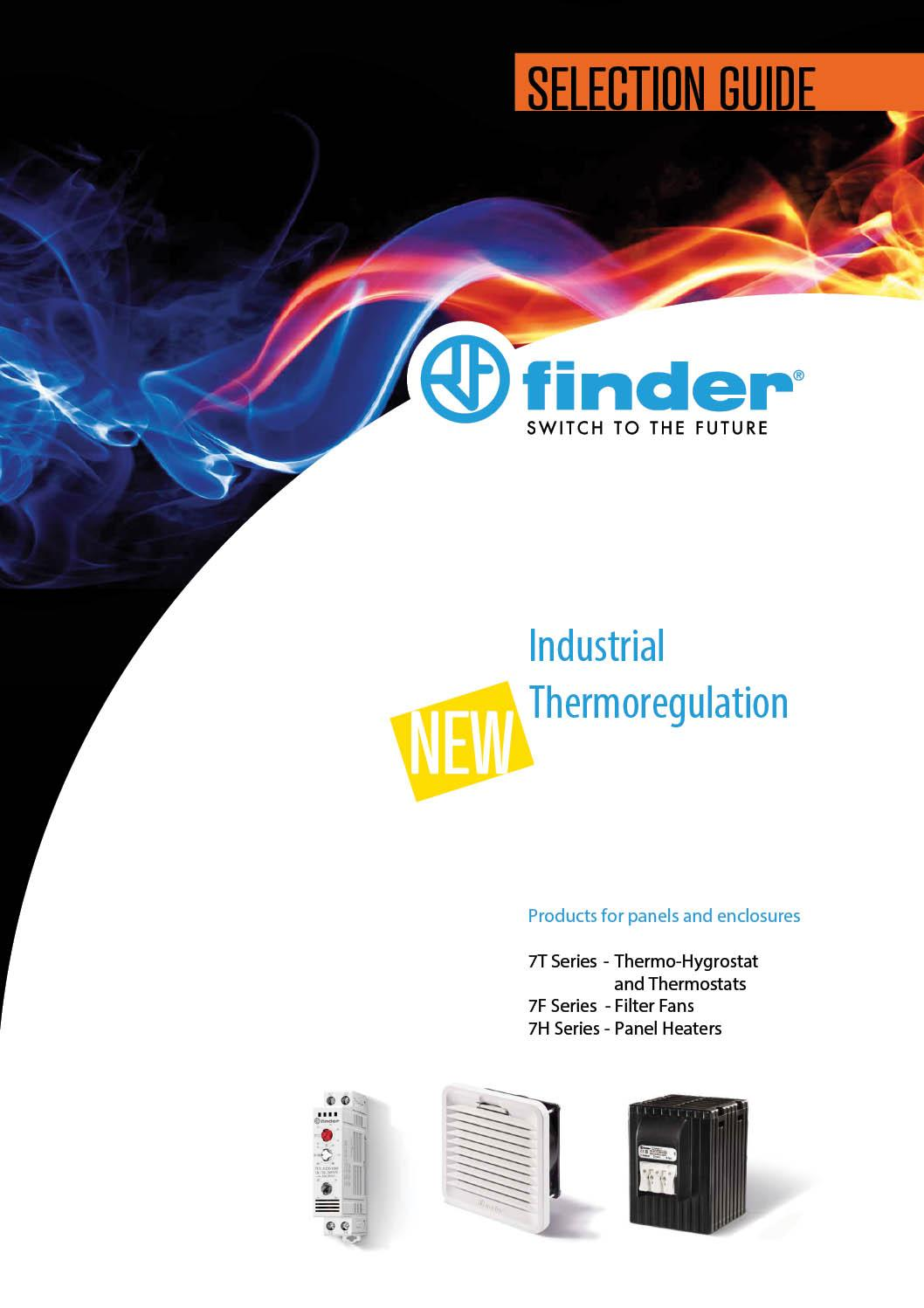 Finder Industrial Thermoregulation supplied by ElectroMechanica